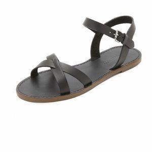 Madewell Broadwalk Black Strappy Sandals